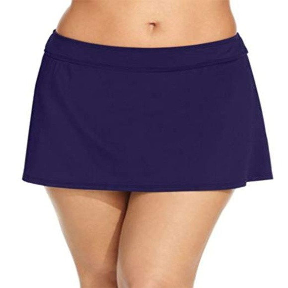 4554b09935 Anne Cole Swim | Plus Live In Color Solid Skirt | Poshmark